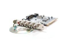 PCI frame grabber. Isolated pci 4 channal frame grabber on white background Stock Photo
