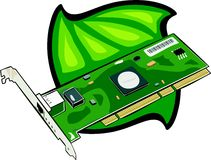 PCI-Modem intern lizenzfreie abbildung