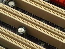 PCI ports on board Stock Photos