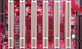 PCI-Schlitze lizenzfreie stockbilder