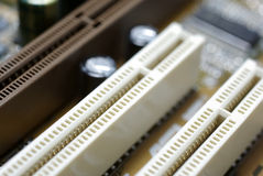 PCI slots close up Royalty Free Stock Photo