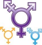 Płciowość symbolu wektor Zdjęcie Stock