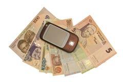 PCP auf Geld Stockfoto