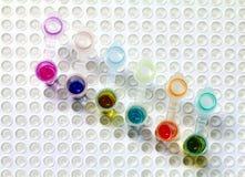 pcr för 2 microtubes Royaltyfri Fotografi
