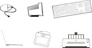 PCs en Randapparatuur Royalty-vrije Stock Afbeeldingen
