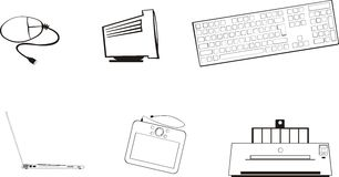 PCs et périphériques Images libres de droits