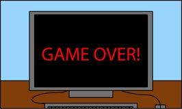 PCskärm som läser leken över! vektor illustrationer