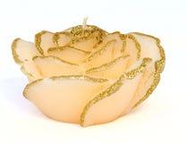pączkowej świeczki dekoracyjna forma wzrastał Fotografia Royalty Free