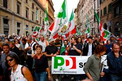 PD (Democratic Party) Rally in Rome Royalty Free Stock Photography