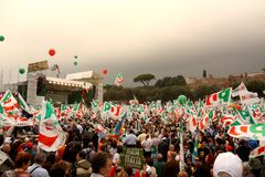 PD (Democratic Party) Rally in Rome Royalty Free Stock Image