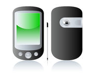 Pda. Illustration of pda, pocket pc, smart phone Stock Images