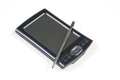 PDA aislado en blanco imágenes de archivo libres de regalías