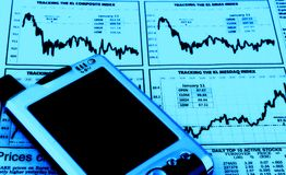 PDA auf auf lagerdiagramm Stockfotografie
