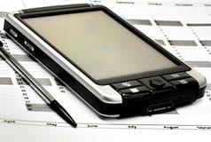 PDA auf Planer lizenzfreies stockfoto