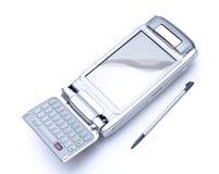 PDA avec l'aiguille et le clavier de chiquenaude sur le backgro blanc Photo libre de droits