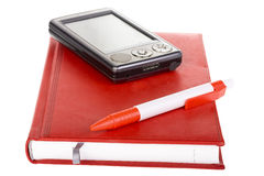 Pda cell phone with pen Royalty Free Stock Image