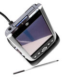 PDA in cradle with stylus Stock Images