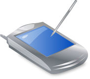 Pda d'ordinateur de poche avec l'écran grand Photographie stock libre de droits