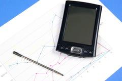 PDA e carta Imagem de Stock Royalty Free
