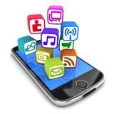 PDA e multimédios Imagem de Stock