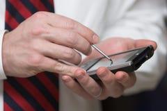 PDA e negócio Imagens de Stock