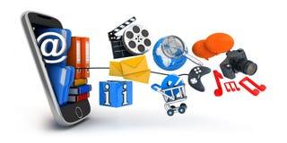PDA en multimedia Royalty-vrije Stock Afbeeldingen
