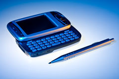 PDA en pen Stock Foto's