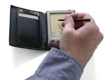 PDA et main photographie stock libre de droits