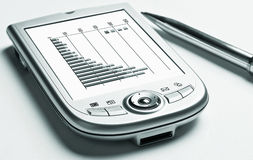 PDA, graphs royalty free stock photos