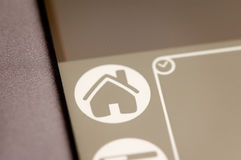 Pda home icon. Close up Stock Images