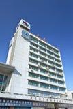 PDA-Hoofdkwartier die bij Dalian-Haven, China bouwen Royalty-vrije Stock Afbeelding