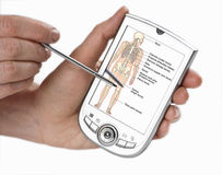 PDA, Medizinsoftware Lizenzfreies Stockbild