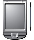 PDA met naald royalty-vrije illustratie
