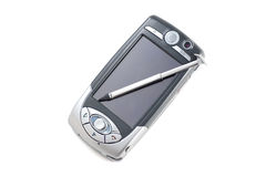 PDA Mobile Phone #5. PDA Mobile Phone with stylus, on white, with clipping path Stock Photography