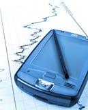 PDA na carta conservada em estoque Fotografia de Stock