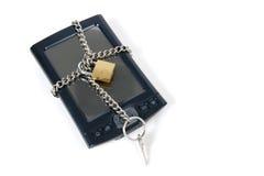 PDA oben gesperrt für Sicherheit stockfotos