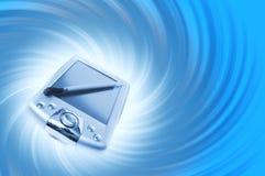 PDA op blauwe achtergrond Royalty-vrije Stock Fotografie
