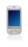 PDA phone. With clear screen to put message on Royalty Free Stock Photos