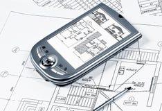 PDA, planning royalty-vrije stock afbeeldingen