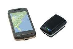 PDA And Receiver GPS Bluetooth Stock Photos