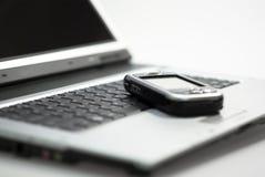 PDA sur l'ordinateur portatif Image stock