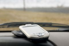 PDA sur le paquet d'un véhicule image stock