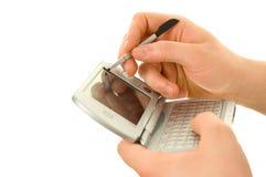 Pda y aguja Handheld Fotografía de archivo libre de regalías