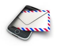 PDA y correo Imagen de archivo libre de regalías