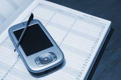 PDA y diario imágenes de archivo libres de regalías