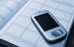 PDA y diario foto de archivo