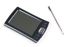PDA y pluma en blanco Imágenes de archivo libres de regalías