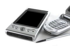 PDA y teléfono móvil Foto de archivo libre de regalías