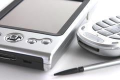 PDA y teléfono móvil Imagen de archivo libre de regalías
