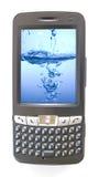 Pdaphone en water Royalty-vrije Stock Afbeeldingen